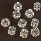 12mm Gem Spot Dice - Clear